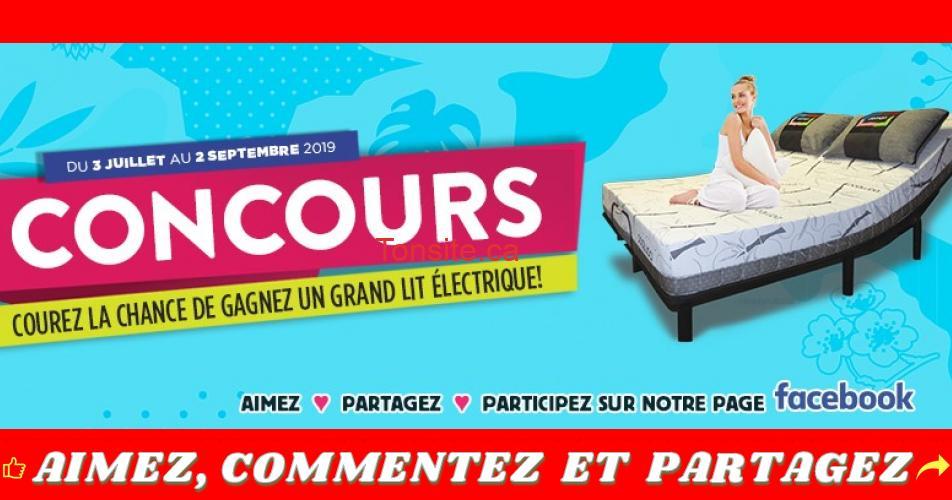 lit concours2 - Gagnez un lit électrique de format grand lit avec matelas inclus