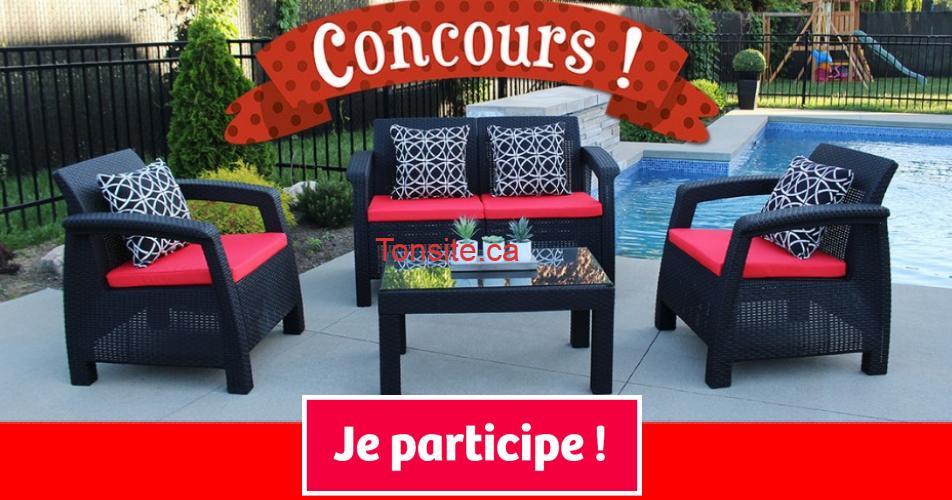 meuble exterieur concours - Gagnez un ensemble complet d'extérieur SUNSET