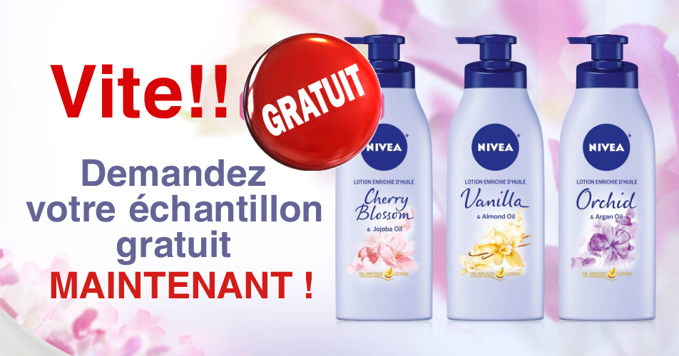 nivea echantillon2 - GRATUIT: Obtenez un échantillon GRATUIT de la nouvelle lotion corporelle enrichie d'huile de Nivea