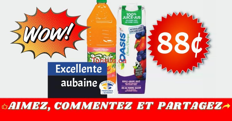 oasis fruite 88 - Jus Oasis ou boisson Fruité à 88¢ seulement!