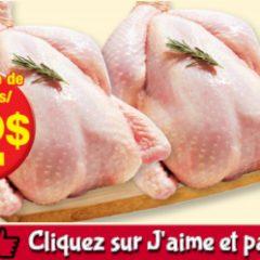 poulet entier 2 240x240 - Emballage de 2 poulets entiers à 12$ seulement!