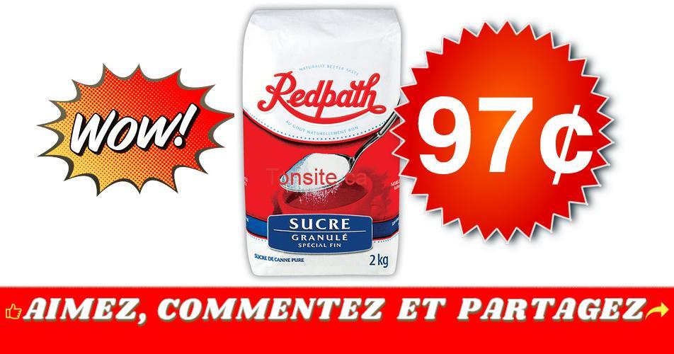 redpath 97 - Sucre granulé Redpath (2 kg) à 97¢ au lieu de 2,99$
