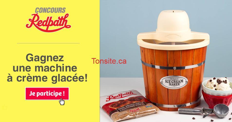 redpath concours creme glacee machine - Participez et gagnez une machine à crème glacée!