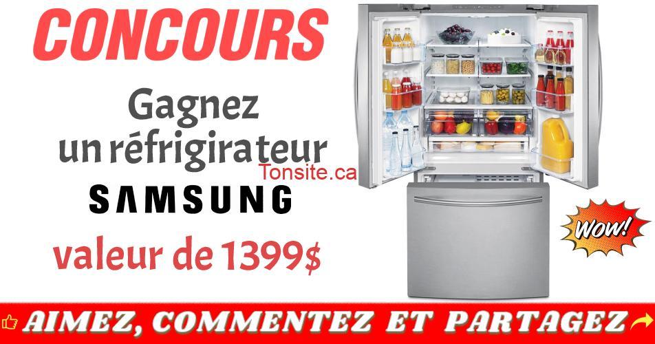 samsung refrigirateur concours - Gagnez un réfrigérateur Samsung de 21,6 pi³ d'une valeur de 1399$