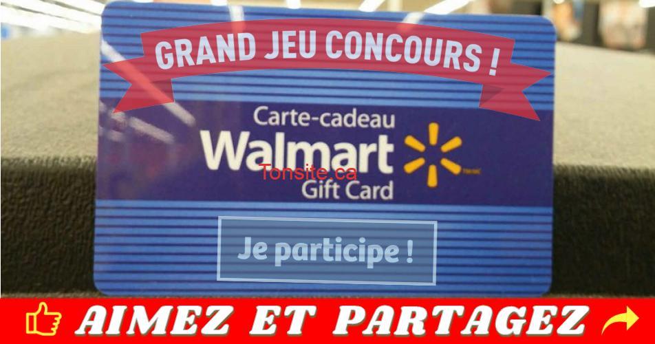walmart ph - 100$ en cartes-cadeaux Walmart à gagner (4 gagnants)