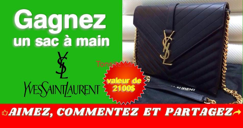 ysl concours - Gagnez un sac à main Yves Saint Laurent (valeur de 2100$)