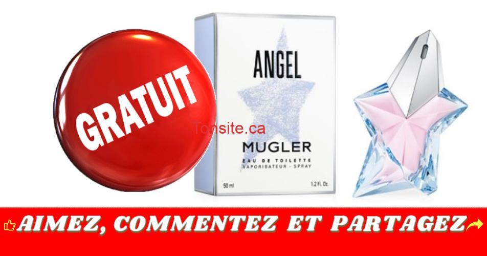 angel gratuit - Obtenez un échantillon gratuit de l'eau de toilette Angel de Mugler
