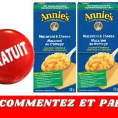 annies gratuit 240x240 - Obtenez un échantillon gratuit d'une boîte de macaroni au fromage Annie's