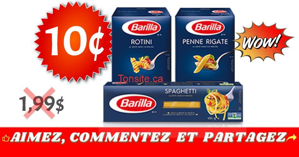 barilla 10c 199 - Pâtes alimentaires Barilla à 10¢ au lieu de 1,99$