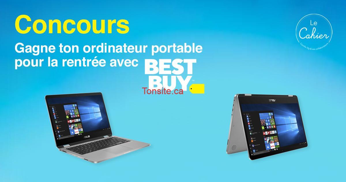 bestbuy concours ordi - Gagne ton ordinateur portable pour la rentrée avec Best Buy
