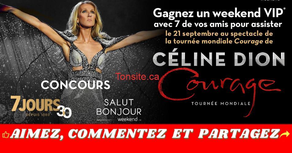 celine dion concours1 - Gagnez un week-end VIP pour 8 personnes pour assister au spectacle de Céline Dion