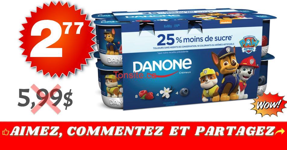 danone cremeux 277 599 - Emballage de 16 yogourts Danone Crémeux à 2,77$ au lieu de 5,99$