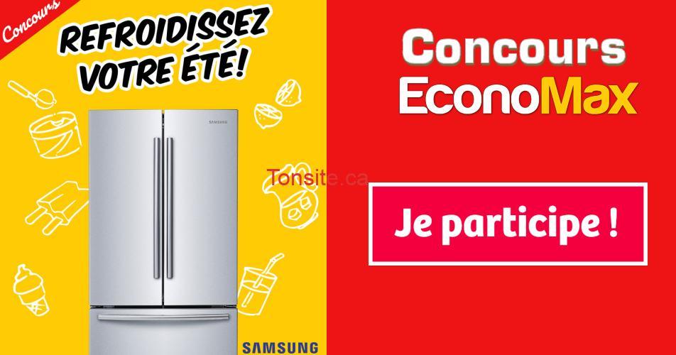 economax concours26 - Gagnez un réfrigérateur Samsung de 21,6 pi³ (valeur de 1399$)