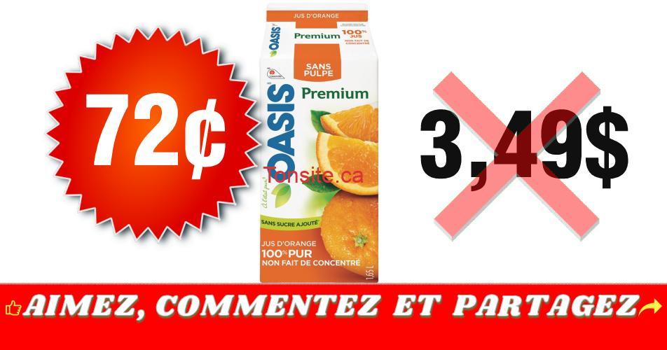 oasis premium 72 349 - Jus Oasis Premium à 72¢ au lieu de 3,49$