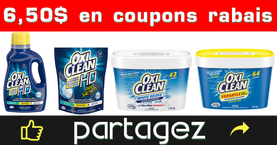 oxiclean coupons - Coupons rabais OxiClean