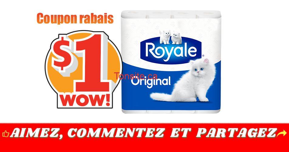 royale original coupon - Coupon rabais de 1$ sur tout produit Royale Original