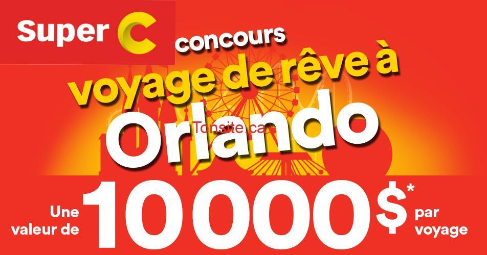superc concours orlando - Concours Super C : Gagnez un voyage de rêve pour 4 personnes à Orlando d'une valeur de 10.000$ (4 gagnants)