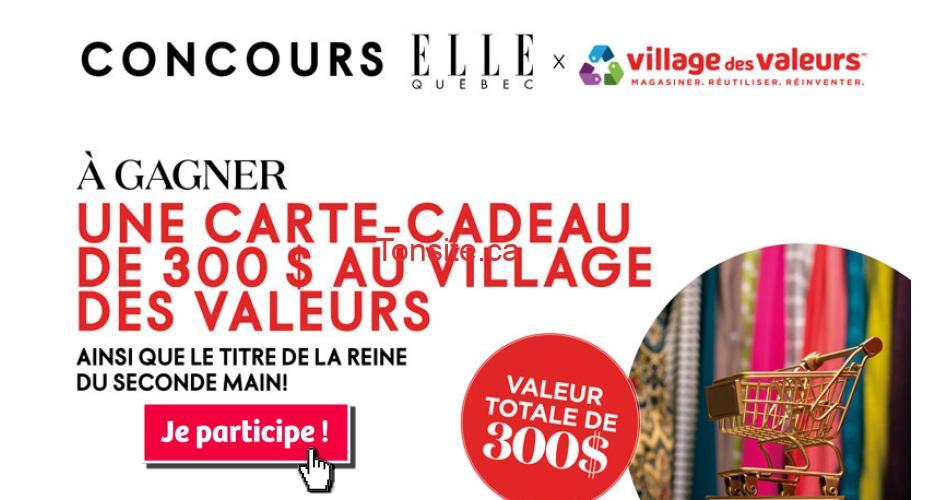 village des valeurs concours - Gagner une carte-cadeau de 300 $ au Village des Valeurs