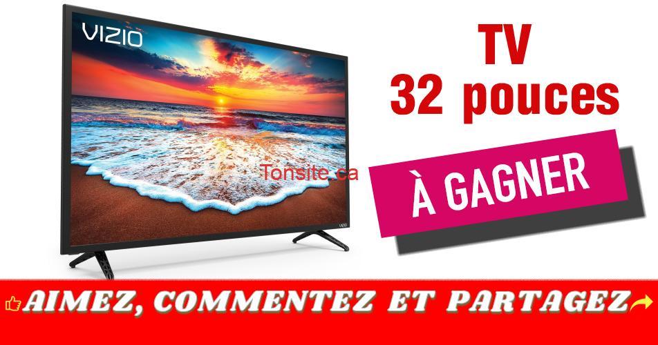 vizio tv concours - Gagnez une télévision intelligente 32 po