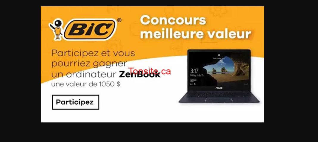 bic concours5 - Gagnez un ordinateur portable ZenBook UX331 d'une valeur approximative de 1050 $