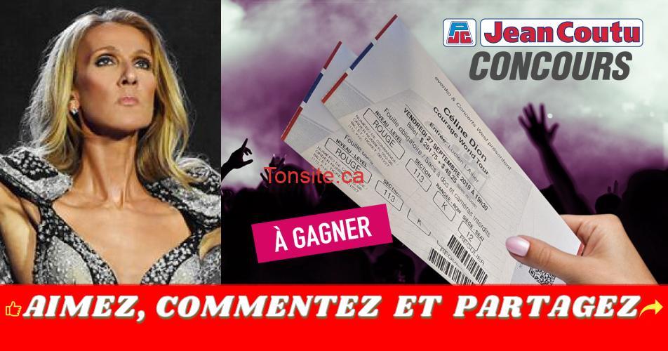 celine dion concours jean coutu - Gagnez une paire de billets pour le spectacle de Céline Dion le 27 septembre 2019 au Centre Bell