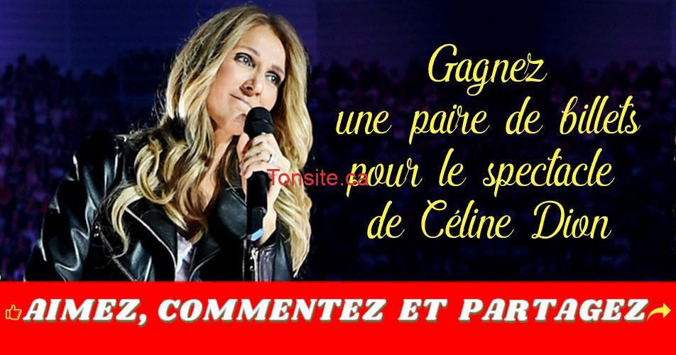 celinedion concours - Gagnez 2 billets pour le spectacle Courage World Tour de Céline Dion