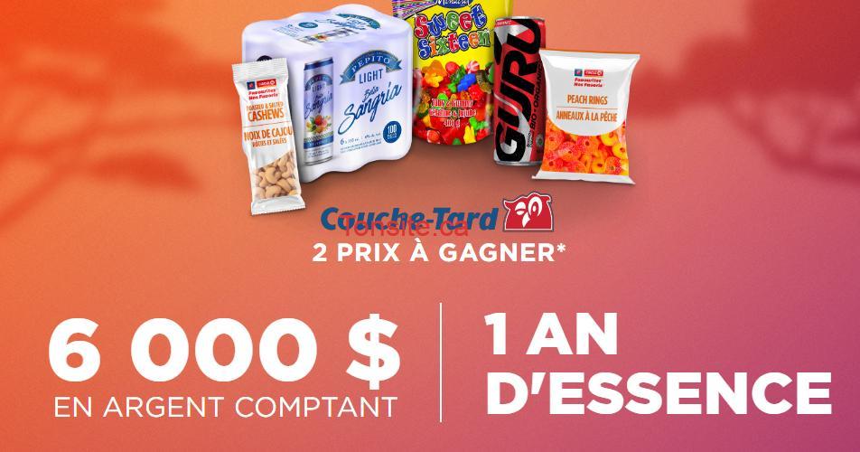 couche tard concours sept oct2019 - Concours Couche Tard: Gagnez 6000$ en argent comptant ou 1 an d'essence