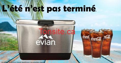 evian1 - Gagnez une glacière Evian et 8 verres Coca-Cola