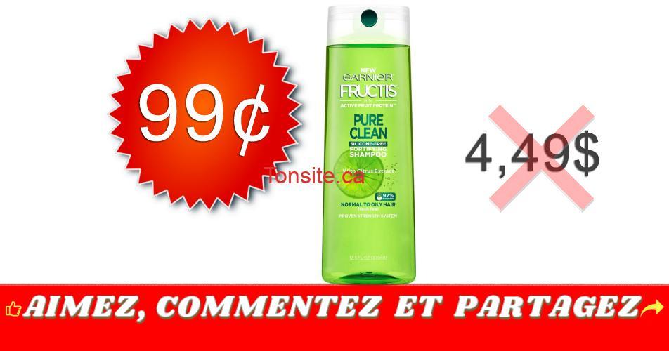 fructis 99 449 - Produits coiffants Fructis Ganier à 99¢ au lieu de 4,49$