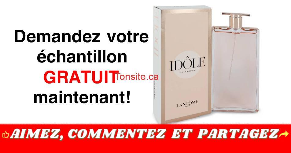 idole lancome gratuit - GRATUIT: Obtenez un échantillon gratuit de l'Eau de Parfum Idôle par Lancôme!