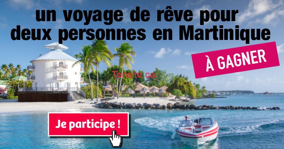 martinique concours2 - Participez et gagnez un voyage de rêve pour deux personnes en Martinique