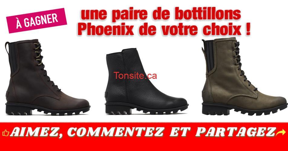 phoenix concours - Gagnez une paire de bottillons Phoenix de votre choix!