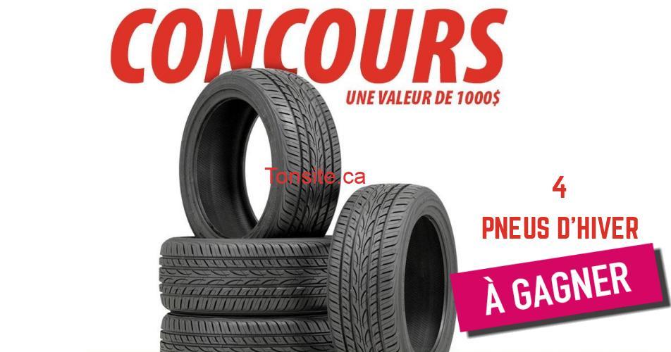 pneus dhiver concours6 - Gagnez 4 pneus d'hiver d'une valeur de 1000$