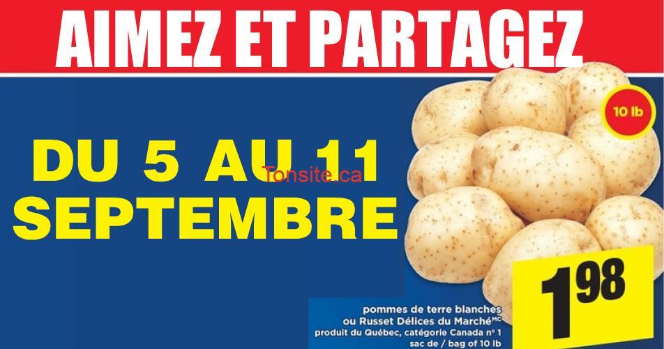 pommes de terre 198 5 11 9 - Sac de pommes de terre (10 livres) à 1,98$ au lieu de 4,99$