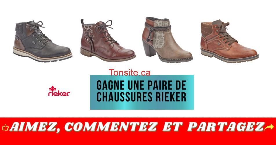 rieker concours12 - Gagnez une paire de chaussures Rieker de votre choix