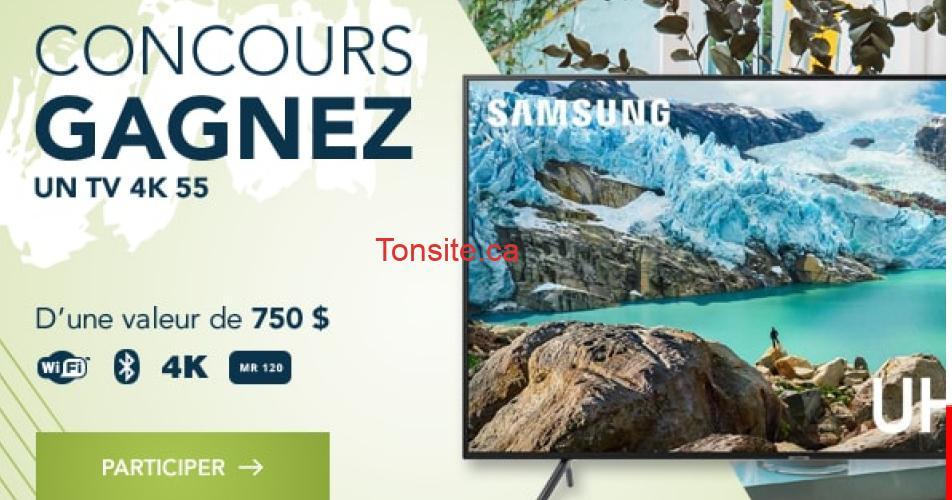 samsung 4k concours - Gagnez un TV Samsung 4K de 55 pouces