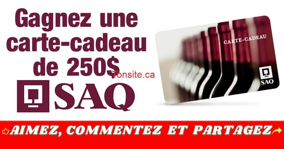 saq 250 concours - Participez et gagnez une carte-cadeau de la SAQ de 250$