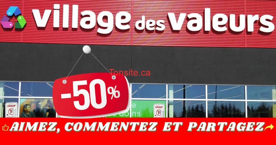 village des valeurs 50 off - Village des valeurs: Obtenez 50% de rabais!