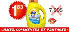 Détergent à lessive Tide Simply Clean & Fresh à 1,83$ au lieu de 7,99$
