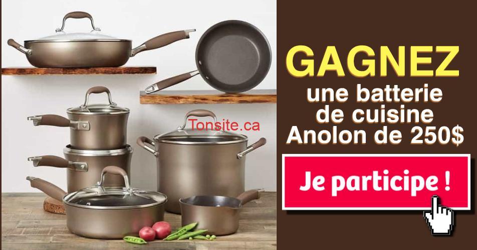 anolon concours - Participez et gagnez une batterie de cuisine Anolon de 250$