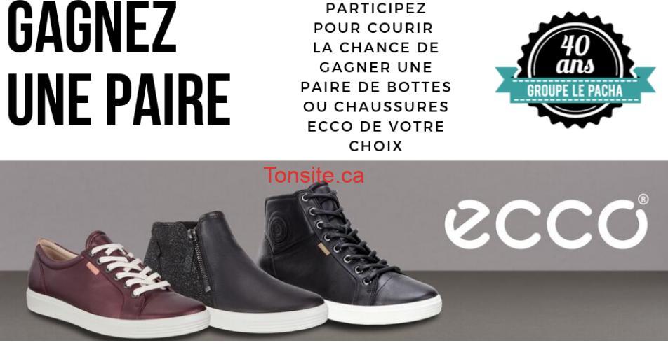 ecco concours - Gagnez une paire de chaussures ou de bottes de la marque ECCO de votre choix