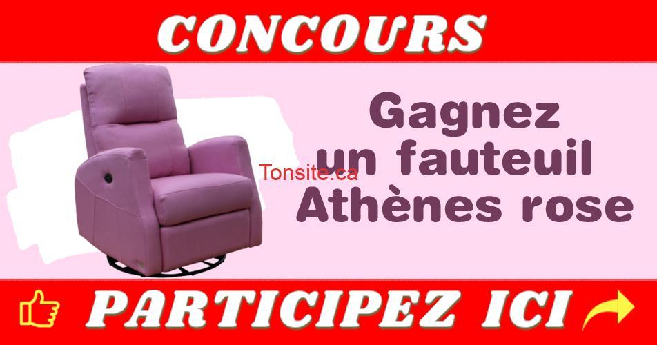 fauteui athenes rose - Participez et gagnez un fauteuil Athènes rose