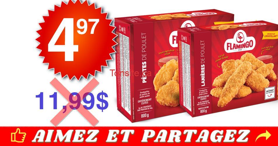 flamingo 497 1199 - Lanières, pépites ou burgers de poulet Flamingo à 4,97$ au lieu de 11,99$