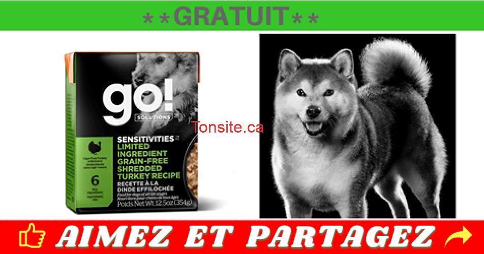 go chien gratuit - Obtenez des sacs de nourriture pour chien Petcurean GRATUITS