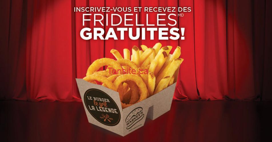 harveys gratuit - Obtenez une portion de fridelles gratuite chez Harvey's