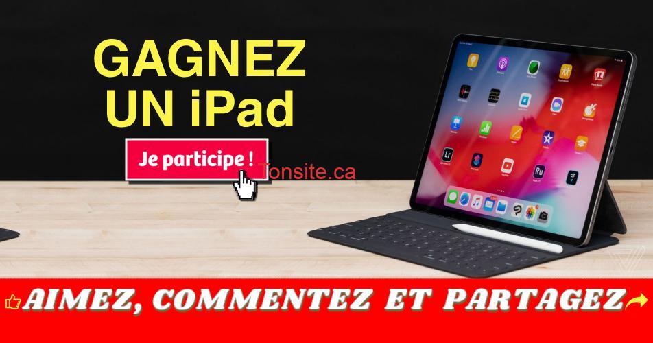 ipad concours off - Participez et gagnez un iPad d'une valeur de 400$