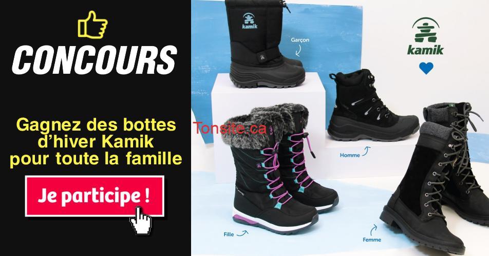 kamik concours - Gagnez des bottes d'hiver Kamik pour toute la famille