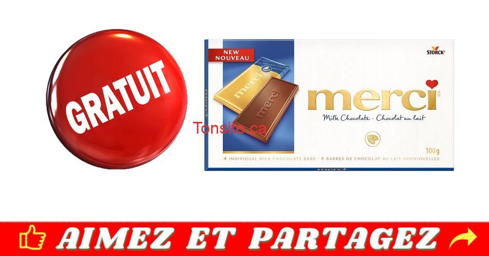 merci gratuit - Obtenez une barre de chocolat merci de 100g GRATUITEMENT!