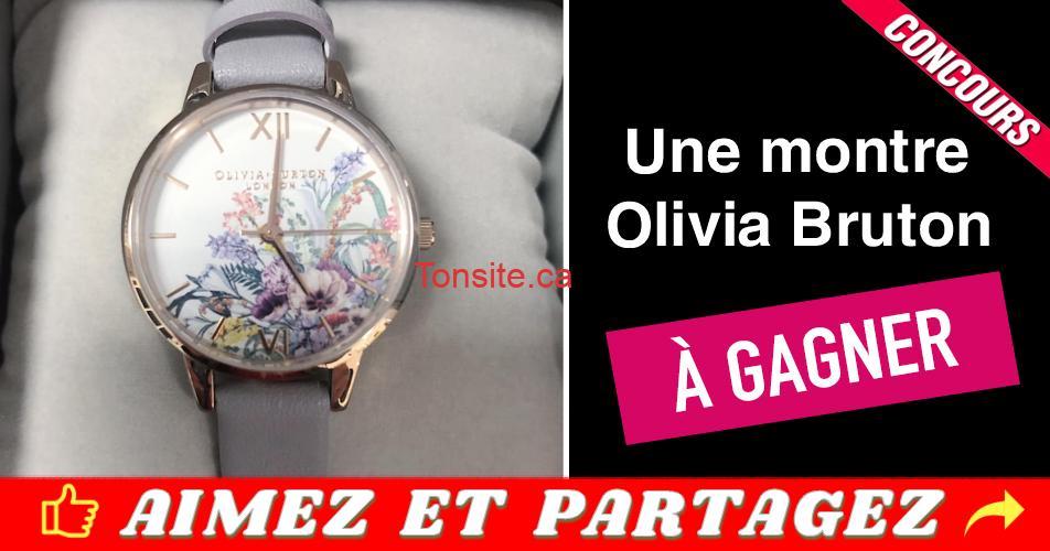 montre olivia bruton concours - Gagnez cette montre Olivia Burton (d'une valeur de 150$) en 3 étapes faciles