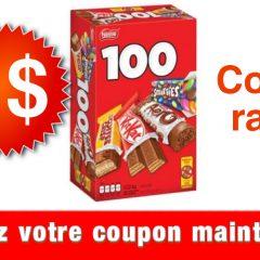 nestle chocolats coupon 240x240 - Coupon rabais de 2$ sur une boîte de 100 minis barres de chocolat Nestlé